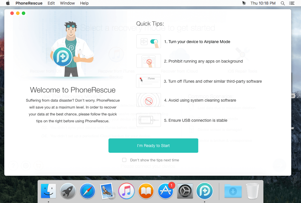 PhoneRescue For IOS Mac v4.0.0.2 Latest Free Download